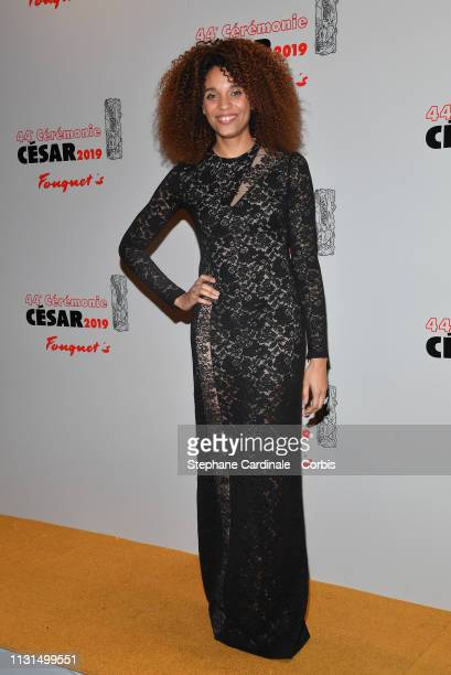 Actress Stefi Celma attends the Cesar Film Awards Dinner at Le Fouquet's on February 22 2019 in Paris France