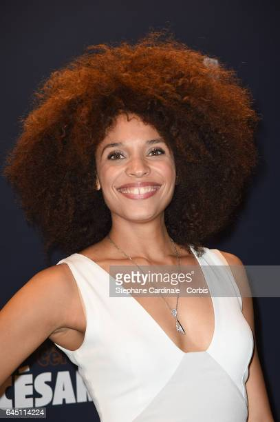 Actress Stefi Celma attends the Cesar's Dinner at Le Fouquet's on February 24 2017 in Paris France