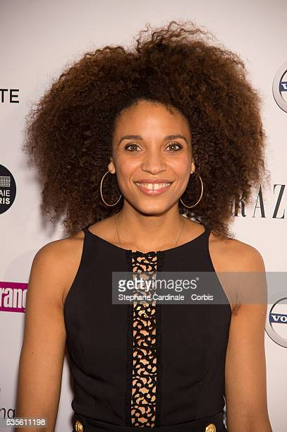 Actress Stefi Celma attends the 'Trophees du Film Francais' 23rd ceremony at Palais Brongniart on February 2 2016 in Paris France