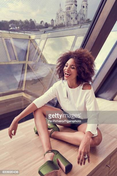Actress Stefi Celma is photographed for Madame Figaro on September 20, 2016 in Paris, France. Top , shorts , Cypris ring , shoes . PUBLISHED IMAGE....