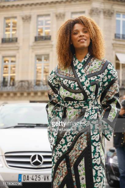 Actress Stefi Celma wearing Stella McCartney outside Stella McCartney during Paris Fashion Week Womenswear Spring Summer 2020 on September 30 2019 in...