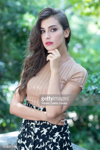 Actress Stella Egitto poses for a portrait session during the 75th Venice Film Festival on September 6 2018 in Venice Italy