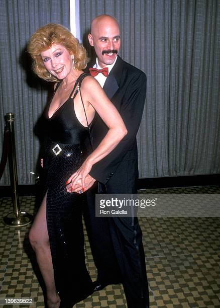 Actress Stella Stevens and musician Bob Kulick attend the 19th Annual Nosotros Golden Eagle Awards on June 9 1989 at Beverly Hilton Hotel in Beverly...