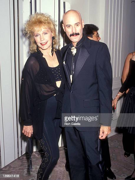 Actress Stella Stevens and musician Bob Kulick attend the 21st Annual Nosotros Golden Eagle Awards on June 14 1991 at Beverly Hilton Hotel in Beverly...