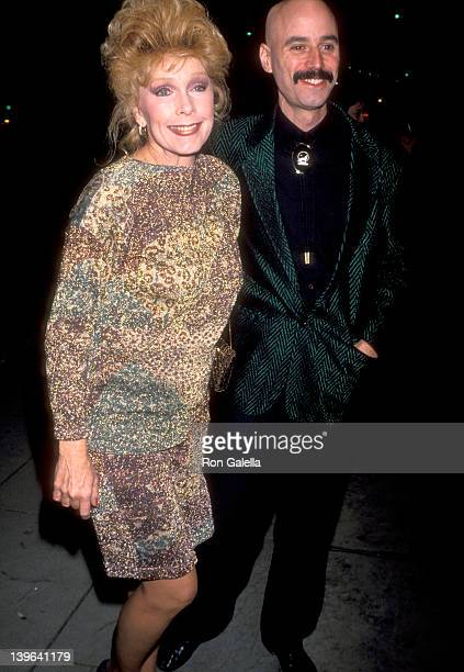 Actress Stella Stevens and musician Bob Kulick attend the Enemies A Love Story Beverly Hills Premiere on December 12 1989 at Academy Theatre in...