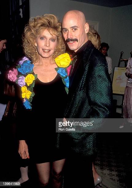 Actress Stella Stevens and musician Bob Kulick attend the Ninth Annual Jimmy Stewart Relay Marathon Kickoff Cocktail Reception on February 1 1990 at...