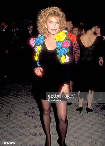Actress Stella Stevens attends the Ninth Annual Jimmy Stewart Relay Marathon Kickoff Cocktail Reception on February 1 1990 at Hotel Bel Air in Bel...