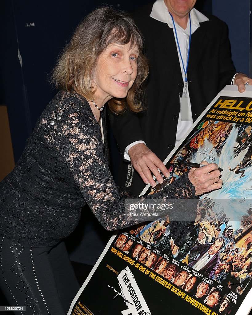 Actress Stella Stevens attends the screening for the 40th Anniversary of 'The Poseidon Adventure' at the American Cinematheque's Egyptian Theatre on December 29, 2012 in Hollywood, California.