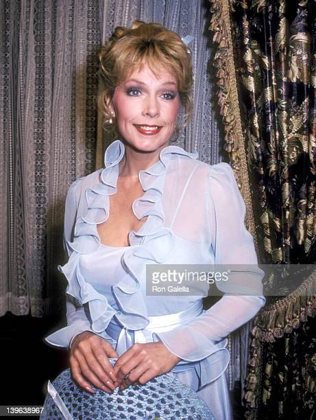 Actress Stella Stevens takes a break from filming the television series Flamingo Road on February 9 1982 at The Burbank Studios in Burbank California