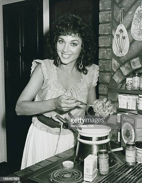 Actress Stepfanie Kramer attends an exclusive photo session on August 13 1983 at Stepfanie Kramer's home in San Fernando Valley California