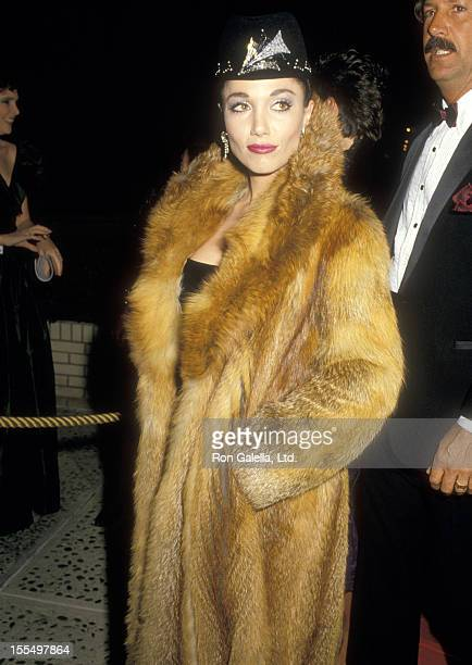 Actress Stepfanie Kramer attends the Fifth Annual American Video Awards on February 26 1987 at Scottish Rite Auditorium in Los Angeles California