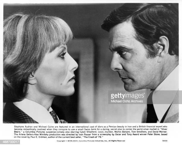 Actress Stephane Audran and actor Louis Jourdan on set the movie Silver Bears circa 1977
