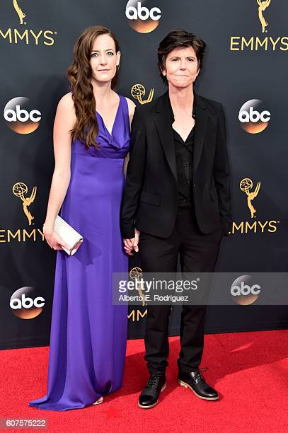 Actress Stephanie Allynne and comedian Tig Notaro attend the 68th Annual Primetime Emmy Awards at Microsoft Theater on September 18 2016 in Los...