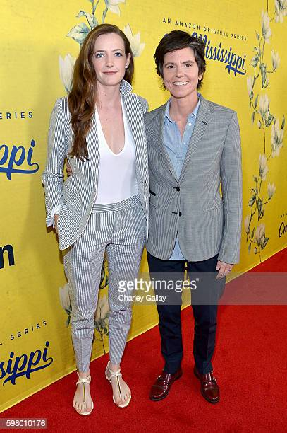 Actress Stephanie Allynne and creator/actress Tig Notaro attend the premiere of Amazon's new series One Mississippi on August 30 2016 in Los Angeles...