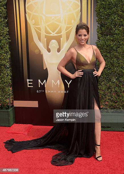 Actress Stephanie Bauer attends the 2015 Creative Arts Emmy Awards at Microsoft Theater on September 12 2015 in Los Angeles California