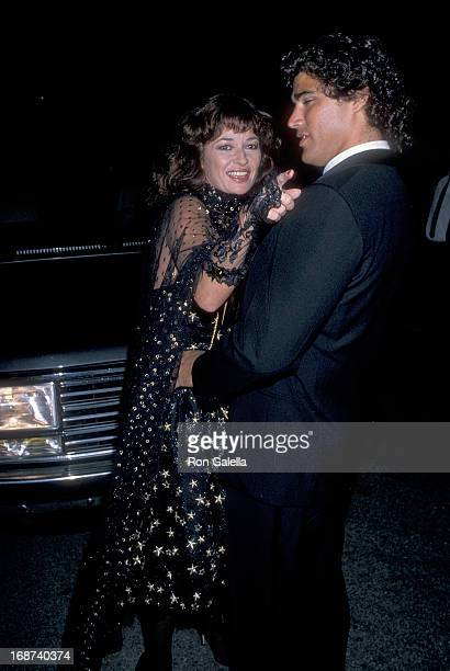 Actress Stephanie Beacham and boyfriend Steve Silver attend John Reid's 40th Birthday Party on September 9 1989 at a Private Estate in Beverly Hills...
