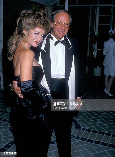 Actress Stephanie Beacham and Hollywood agent Jay Bernstein attend the Museum of Broadcasting Honors Aaron Spelling After Party on September 7 1988...
