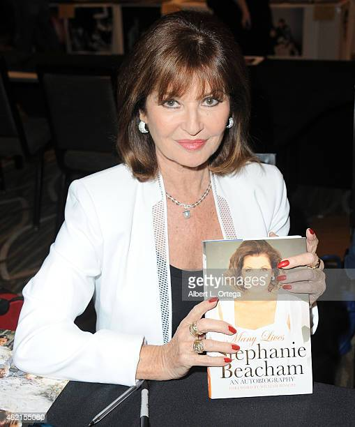 Actress Stephanie Beacham at The Hollywood Show held at The Westin Hotel LAX on January 24 2015 in Los Angeles California
