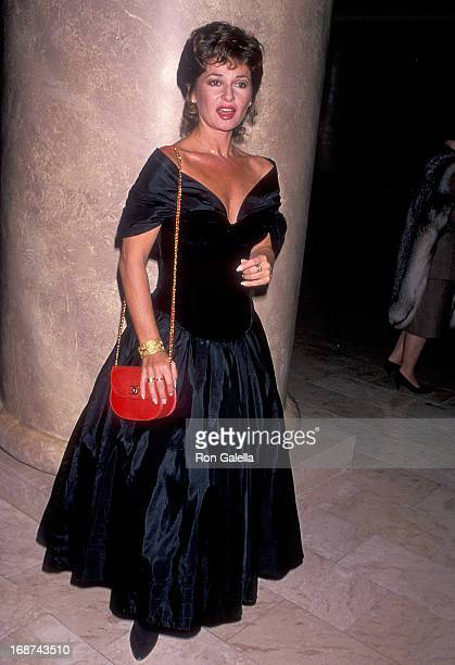 Actress Stephanie Beacham attends the 39th Annual Thalians Ball on October 8 1994 at Century Plaza Hotel in Century City California