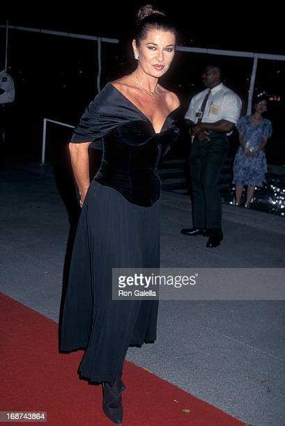 Actress Stephanie Beacham attends the Los Angeles Opera Opens Its 11th Season with 'Pagliacci' on September 4 1996 at Dorothy Chandler Pavilion in...