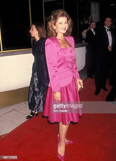 Actress Stephanie Beacham attends the 'That's Entertainment III' Westwood Premiere on April 28 1994 at the Mann National Theatre in Westwood...