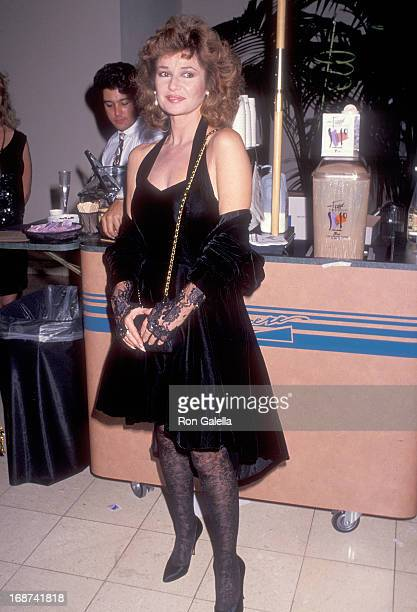 Actress Stephanie Beacham attends the Third Annual Athletes and Entertainers for Kids Celebrity Fashion Benefit Gala on November 16 1991 at the...