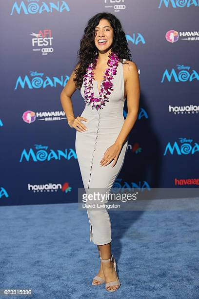 Actress Stephanie Beatriz arrives at the AFI FEST 2016 presented by Audi premiere of Disney's Moana held at the El Capitan Theatre on November 14...