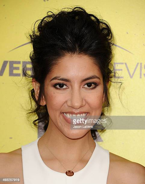 Actress Stephanie Beatriz attends the Brooklyn NineNine steakout block party and special screening event at Universal Studios Backlot on May 22 2014...