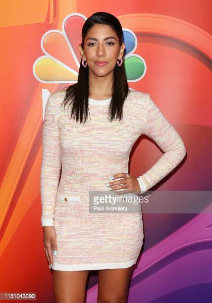 Actress Stephanie Beatriz attends the NBC's Los Angeles midseason press junket at NBC Universal Lot on February 20 2019 in Universal City California