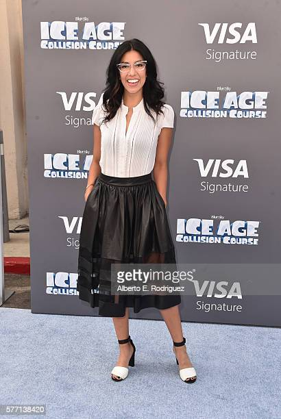 Actress Stephanie Beatriz attends the screening of Ice Age Collision Course at Zanuck Theater at 20th Century Fox Lot on July 16 2016 in Los Angeles...