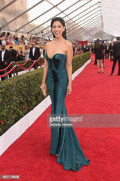 Actress Stephanie Beatriz attends TNT's 21st Annual Screen Actors Guild Awards at The Shrine Auditorium on January 25 2015 in Los Angeles California...