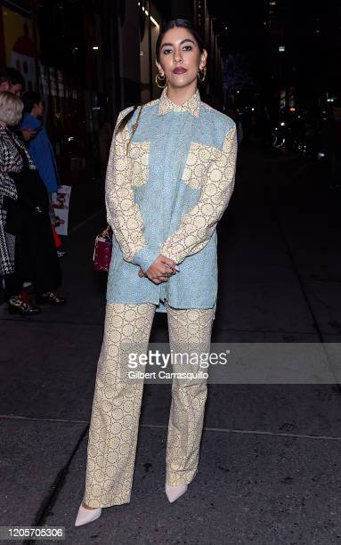Actress Stephanie Beatriz is seen arriving to the Prabal Gurung fashion show during New York Fashion Week on February 11 2020 in New York City