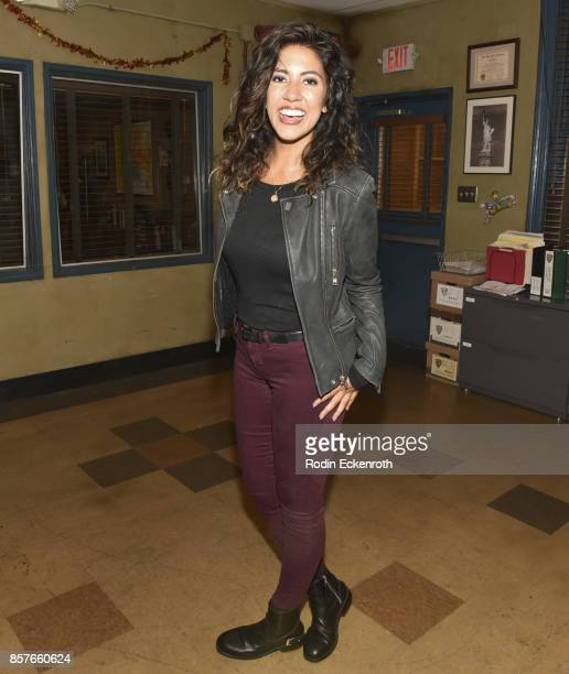 Actress Stephanie Beatriz poses for portrait as Fox's Brooklyn NineNine celebrates their 99th episode at CBS Studio Center on October 4 2017 in...