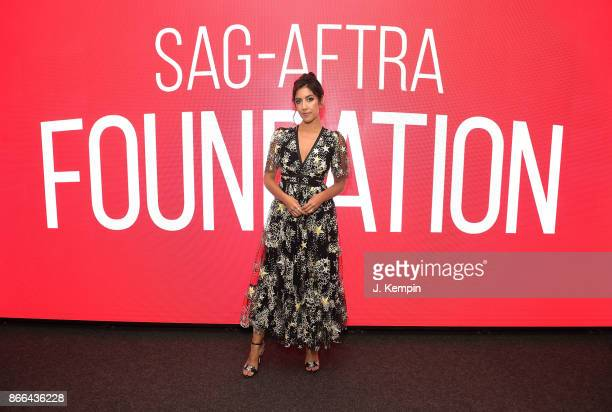 Actress Stephanie Beatriz visits the SAGAFTRA Foundation Robin Williams Center on October 25 2017 in New York City