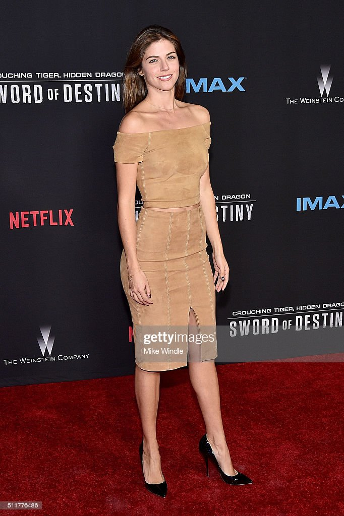 Actress Stephanie Cayo attends the premiere of Netflix's 'Crouching Tiger, Hidden Dragon: Sword Of Destiny' at AMC Universal City Walk on February 22, 2016 in Universal City, California.