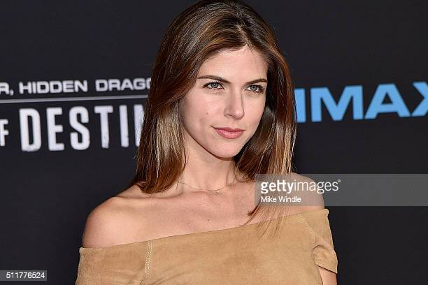 Actress Stephanie Cayo attends the premiere of Netflix's 'Crouching Tiger Hidden Dragon Sword Of Destiny' at AMC Universal City Walk on February 22...