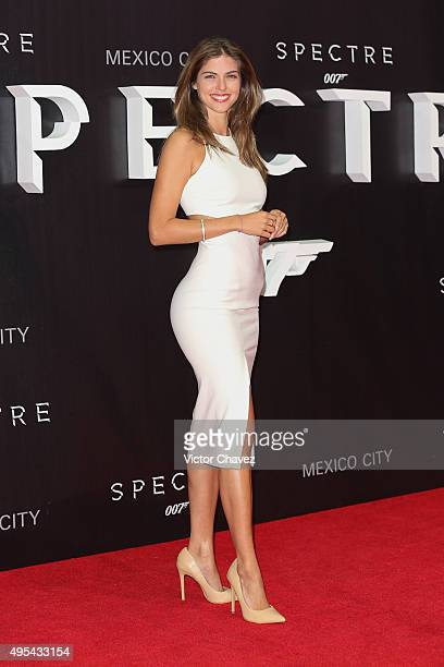 Actress Stephanie Cayo attends the 'Spectre' Mexico City premiere at Auditorio Nacional on November 2 2015 in Mexico City Mexico