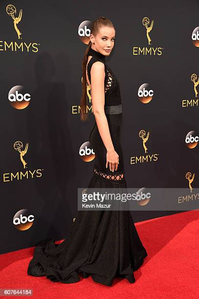 Actress Stephanie Corneliussen attends the 68th Annual Primetime Emmy Awards at Microsoft Theater on September 18, 2016 in Los Angeles, California.