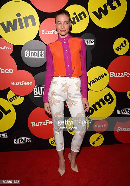 Actress Stephanie Corneliussen attends The Buzzies BuzzFeed's PreEmmy party produced by PenPublic at HYDE Sunset Kitchen Cocktails on September 14...