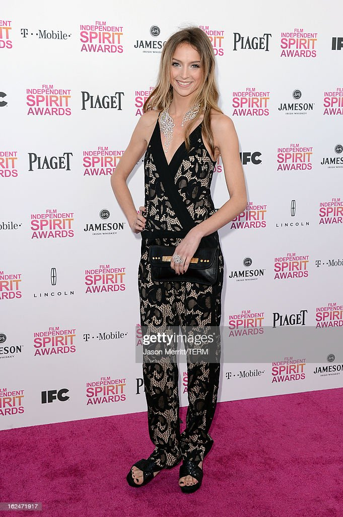 Actress Stephanie Crayencour attends the 2013 Film Independent Spirit Awards at Santa Monica Beach on February 23, 2013 in Santa Monica, California.