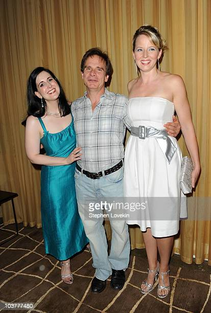 Actress Stephanie D'Abruzzo actor Peter Scolari and actress Jessica Tyler Wright attend the after party for the opening night of 'It Must Be Him' at...