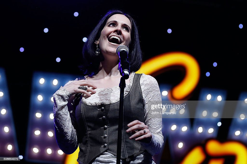 Actress Stephanie D'Abruzzo performs during BroadwayCon 2016 at the Hilton Midtown on January 24, 2016 in New York City.