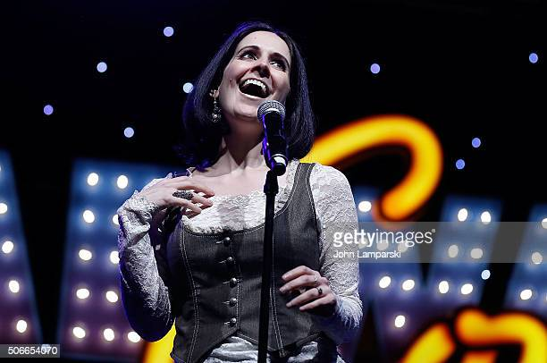 Actress Stephanie D'Abruzzo performs during BroadwayCon 2016 at the Hilton Midtown on January 24 2016 in New York City