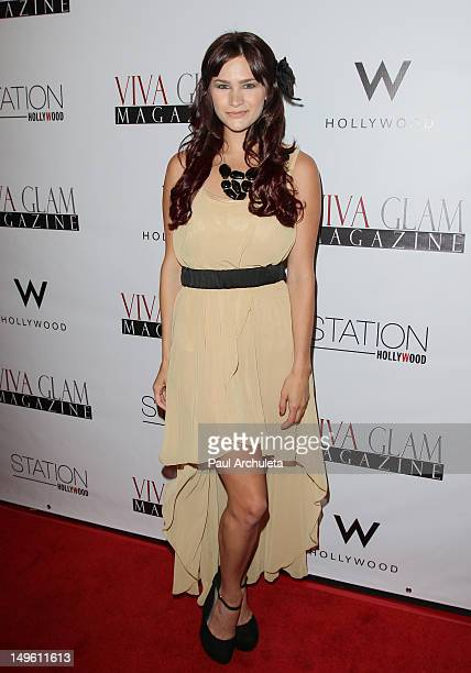 Actress Stephanie Danielson attends the Viva Glam magazine September issue launch party at the W Hollywood on July 31 2012 in Hollywood California
