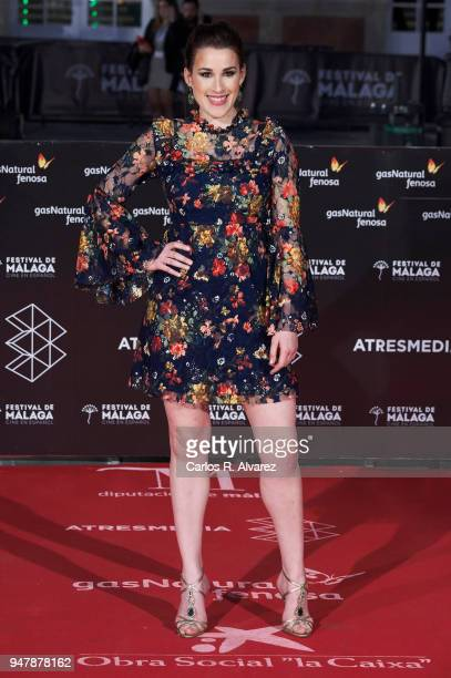Actress Stephanie de Jongh attends 'Las Distancias' premiere during the 21th Malaga Film Festival at the Cervantes Theater on April 17 2018 in Malaga...