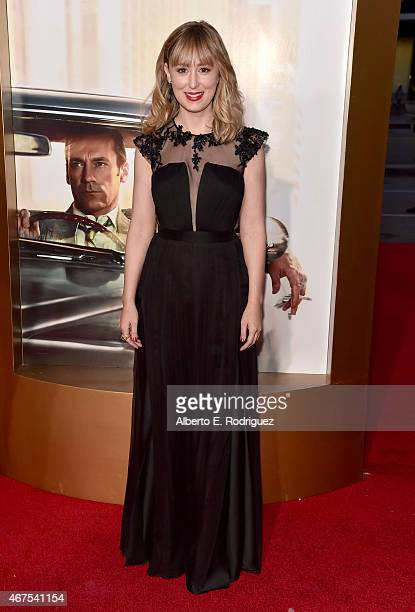 Actress Stephanie Drake attends the AMC celebration of the final 7 episodes of Mad Men with the Black Red Ball at the Dorothy Chandler Pavilion on...