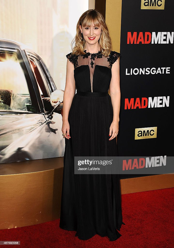 Actress Stephanie Drake Attends The Mad Men Black Red Ball At
