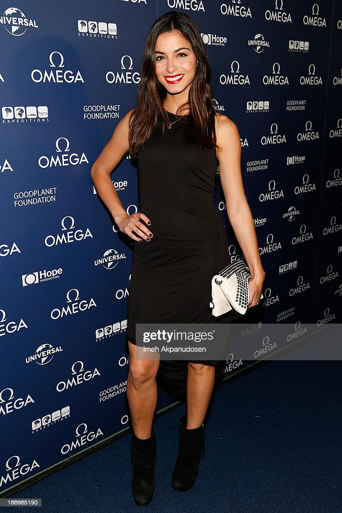 Actress Stephanie Fantauzzi attends the premiere of 'Planet Ocean' at Pacific Design Center on April 18, 2013 in West Hollywood, California.