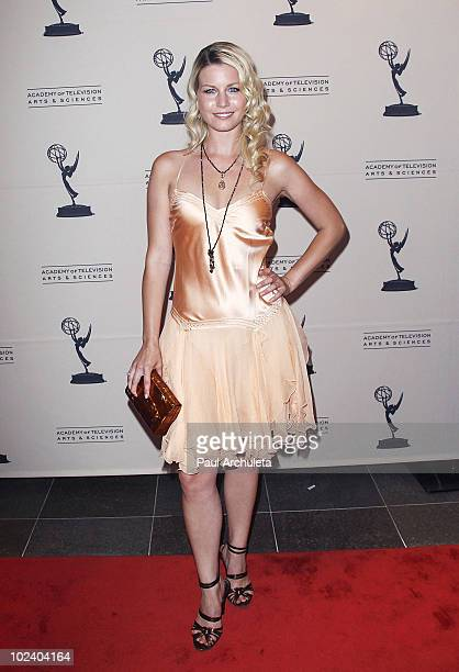 Actress Stephanie Gatschet arrives at the 2010 Daytime Emmy Awards nominees cocktail reception at SLS Hotel at Beverly Hills on June 24 2010 in Los...