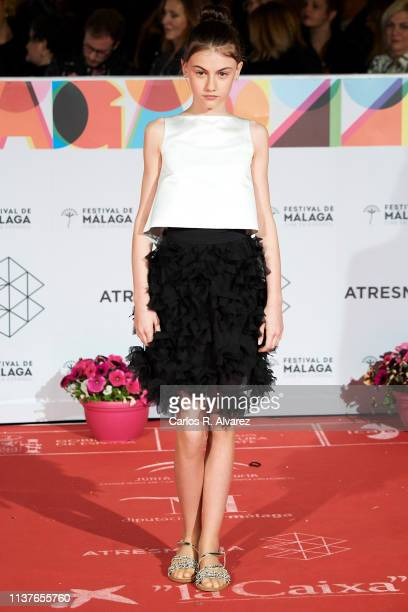Actress Stephanie Gil attends the 'Retrospeciva' award ceremony during the 22th Malaga Film Festival on March 22 2019 in Malaga Spain